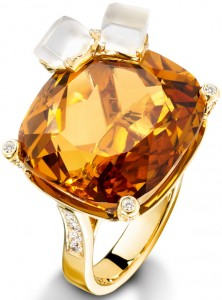 Piaget's Whiskey on the Rocks cocktail ring