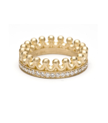 The Princess ring in 14k yellow gold has 0.52 ct. diamonds; $2,450; Kamofie