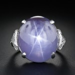 Art Deco 26 Carat Star Sapphire Ring at Lang Antiques