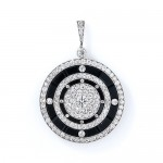 Art Deco Onyx and Diamond Locket at Lang Antiques