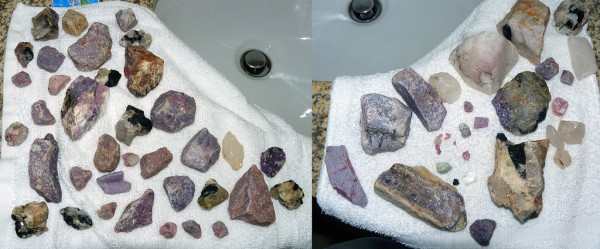 Rock finds from the Stewart Lithia Mine