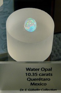 Water Opal, 10.35 carats, part of the Dr. E. Gübelin collection at GIA Carlsbad