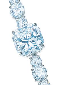 Detail of Tiffany Diamond necklace