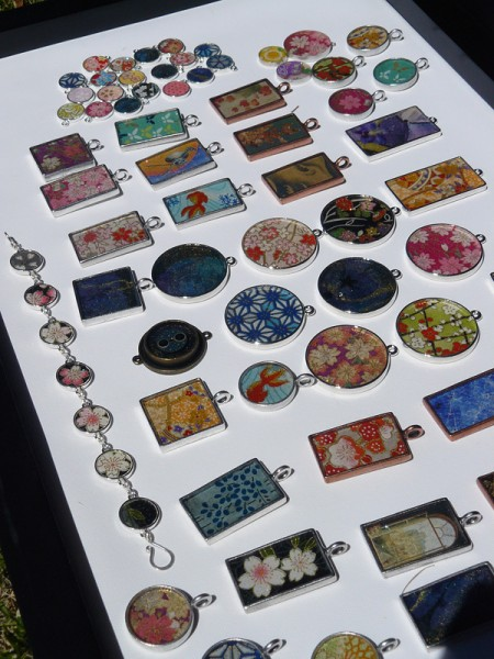 Resin pendants by Many Faceted/Danielle Rose