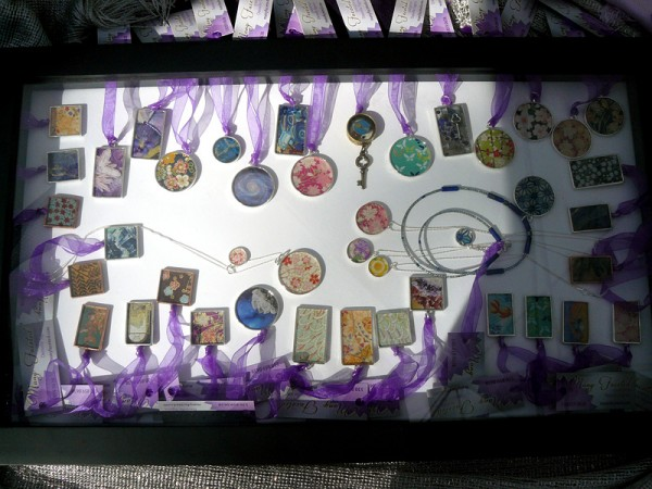 Resin pendants by Many Faceted