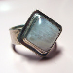 Moonstone ring in sterling silver, made by me