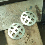 Fabrication 1: earrings, separated and domed