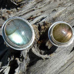 Labradorite rings, sterling silver, August 2013
