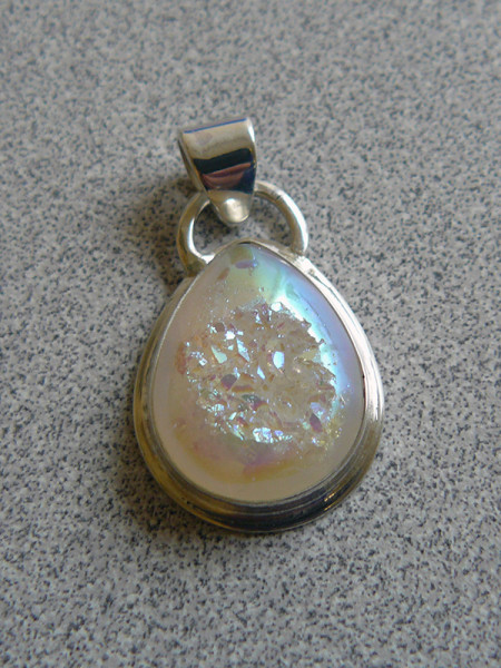 Quartz drusy pendant by Danielle Signor, March 2014