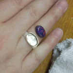 Synthetic opal ring (in progress) by Danielle Rose, March 2014