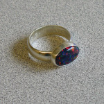 Synthetic opal ring by Danielle Rose, March 2014