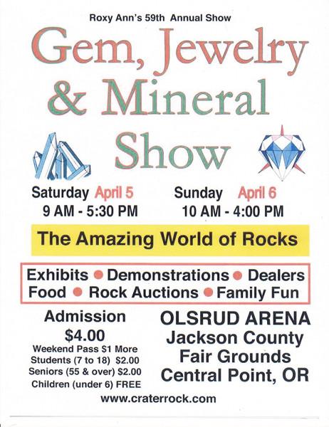 2014 Roxy Ann Gem & Mineral Show