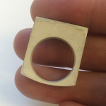 My cast silver ring, cleaned up and ready to finish and polish.