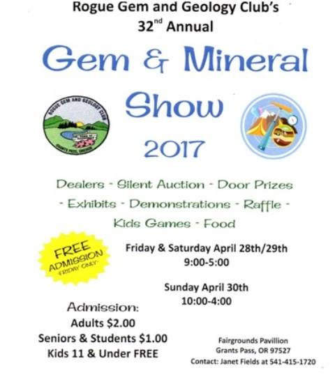 32nd Annual Rogue Gem & Mineral Show
