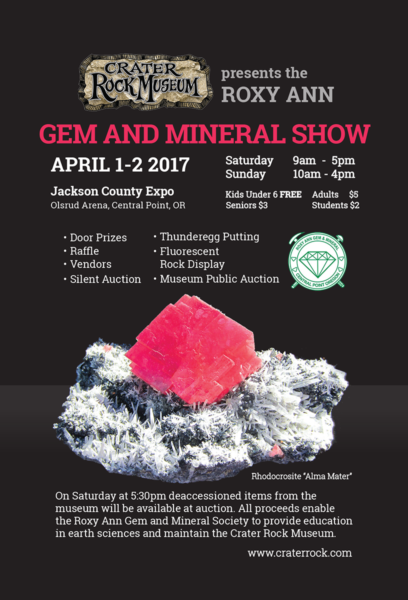 62nd Roxy Ann Gem & Mineral Show